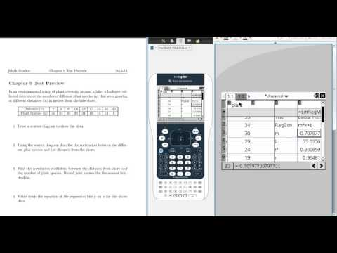How to Find the Equation of The Regression Line on TI Nspire