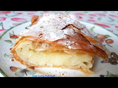 How to make Greek Bougatsa easy - Creamy Custard Pie