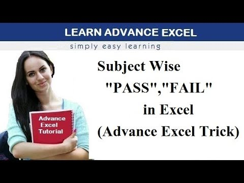 How to Calculate Pass or Fail Subject Wise Using IF AND Countif Function