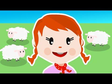 LITTLE BO PEEP Nursery Rhyme with Lyrics - Children's Song
