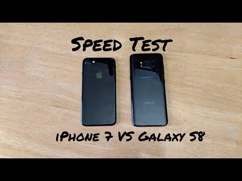 iPhone 7 vs Samsung Galaxy s8 Speed Test