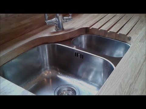 Sealing new wooden worktops in the kitchen