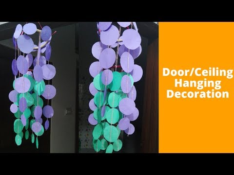 How To Make Door/Ceiling Hanging Decoration || DIY Hanging Craft Ideas using colour paper