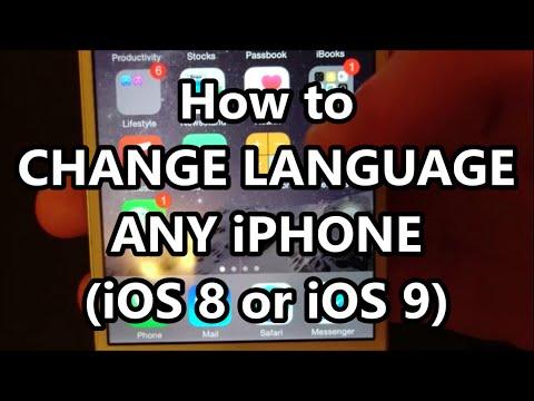 iPhone 6 How to Change Language