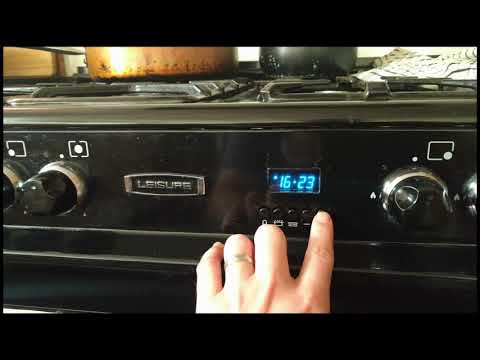 How to programme a Leisure Range Cooker to come on and turn off automatically
