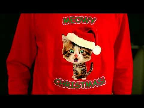 Caroling Kitty Ugly Christmas Sweater- Digital Dudz Christmas 2013