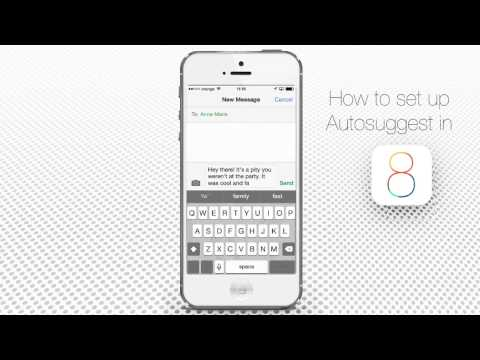 How to Setup Autosuggest on iPhone and iPad
