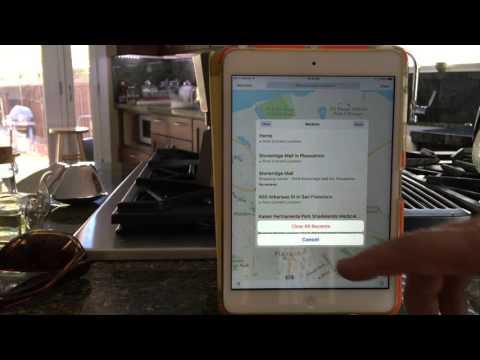 Mac-Senior Delete Past Locations in Maps