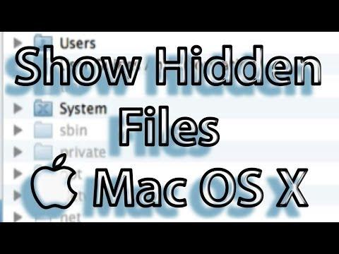 How to Show Hidden Files Mac OS X