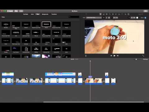 how to add a title in imovie?