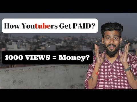 How Youtubers Get PAID | How Much Youtube Pay for 1000 Views ? HINDI URDU