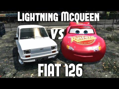 Fiat 126/126p Maluch vs Lightning Mcqueen GTA IV [DOWNLOAD LINK]