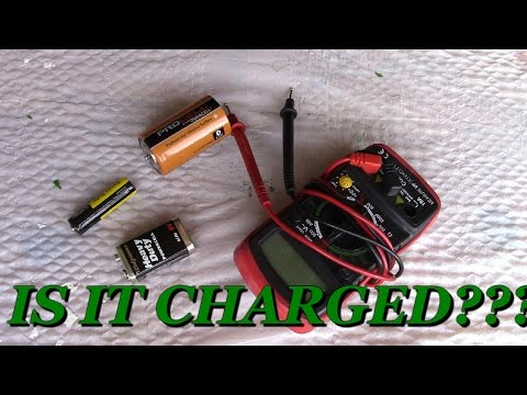 How to TEST a Battery if DEAD using Voltmeter