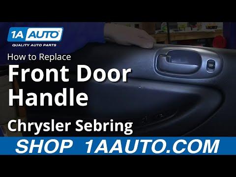 How To install Replace Inside Front Door Handle 2001-06 Chrysler Sebring 4 Door Sedan