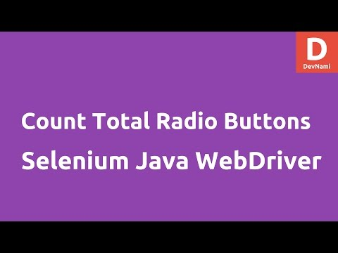 Total number of Radio buttons Selenium Java