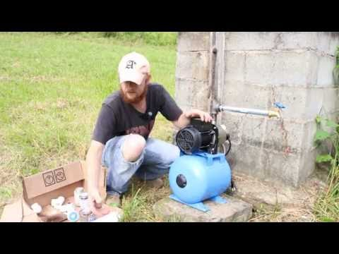 Harbor Freight Well pump temporary off grid water solution
