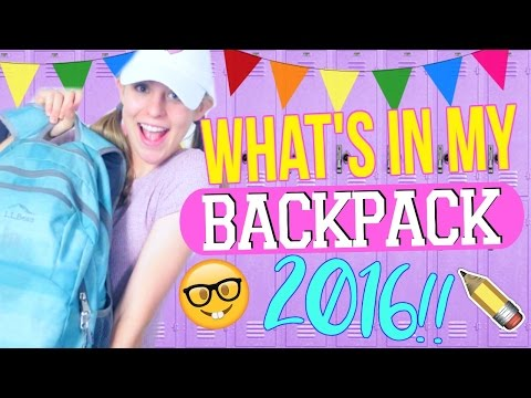 What's in My BACKPACK 2016!!