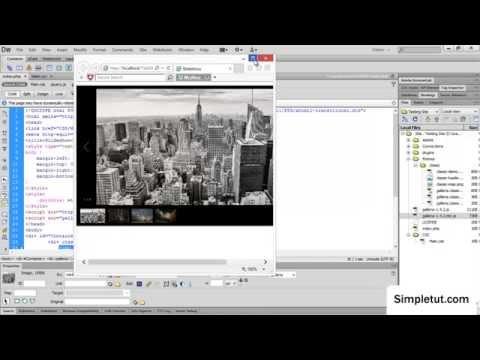 How To Create a Responsive JavaScript Image Gallery - Easy Dreamweaver Tutorial