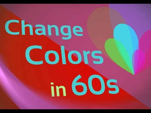 Change an Object's Color in 60s