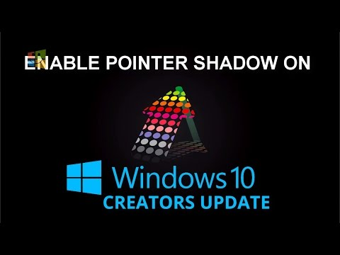 Enable Pointer Shadow on Windows 10