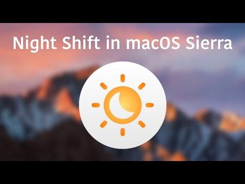 Night Shift in macOS Sierra