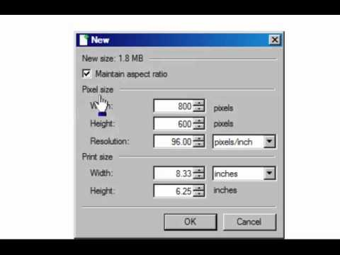 How To Create and Resize Canvas in Paint.net