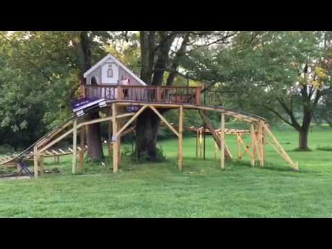 Home treehouse/roller coaster