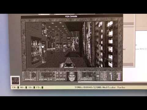 DOOM on the emulated NeXT Cube