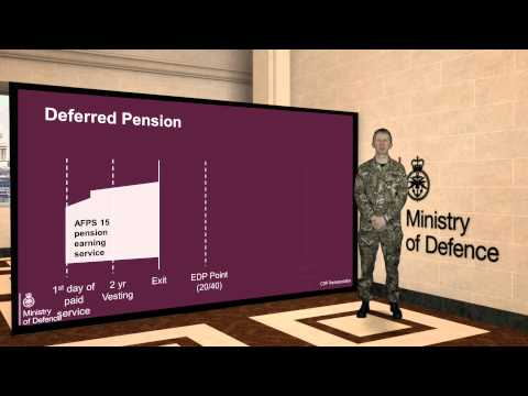 Armed Forces Pension Scheme 8. Optional Sub-film. How a deferred pension works