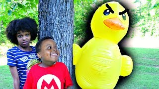 Bad Baby Shiloh and Shasha vs GIANT RUBBER DUCK! - Onyx Kids