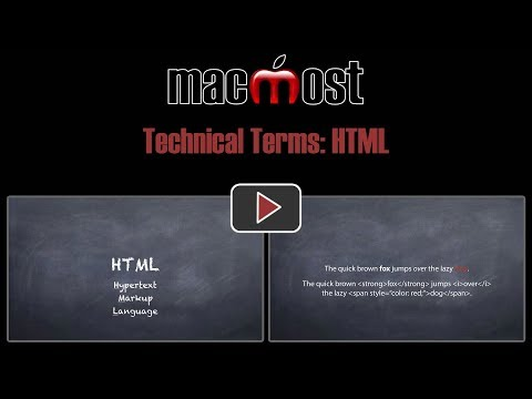 Technical Terms: HTML (MacMost #1800)