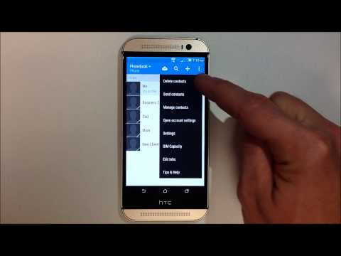 How to Delete Multiple Contacts - HTC One