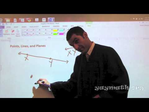 Geometry – Points, Lines, and Planes