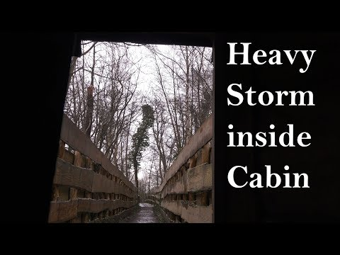 Heavy Storm Sounds from Cabin with Strong Gusts of Wind (Real Time)