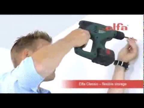 The elfa easy hang shelving system