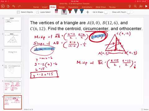 Finding the Circumcenter of a Triangle