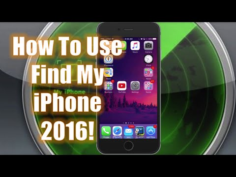 How To Use Find My iPhone - 2016!