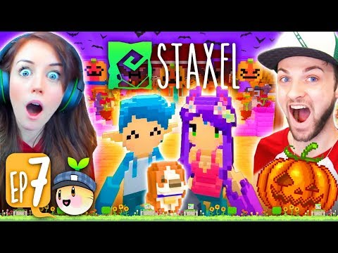 THE TOWN GOT HAUNTED?!?!?👻 (Staxel #7!🐷)