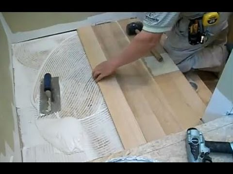 Stairs Installation: Installing Hardwood on Stair Landing Mryoucandoityourself