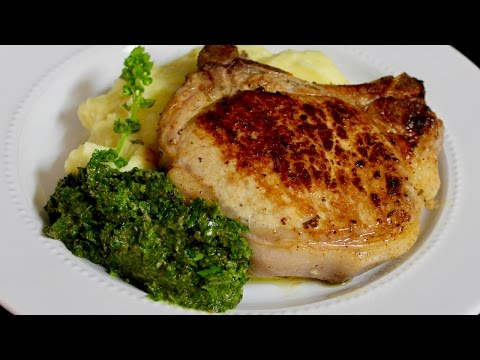 Pork Chops with Herb Sauce by Michael's Home Cooking