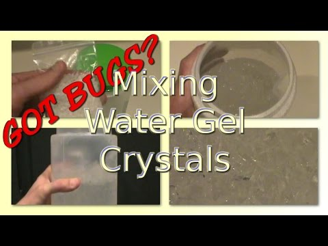 How to Make Water Gel Crystals for Crickets and Roaches