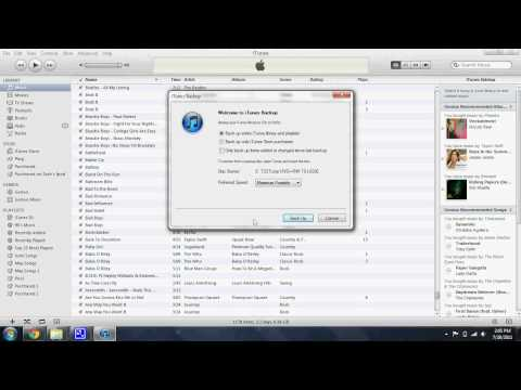 How to back up Itunes Library to disc