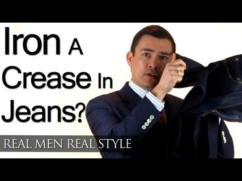 Should A Man Iron A Crease In His Jeans? How Long Should Jeans Fit?  Denim Jean Style Tips
