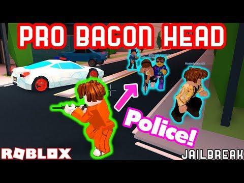 PRO BACON HAIR VS 5 POLICE OFFICERS!! - Roblox Jailbreak Highest Bounty