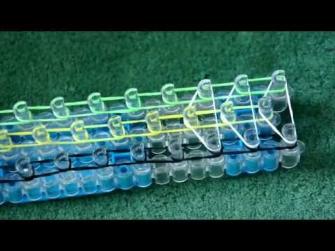 How to make a Dragon Scale Cuff Bracelet with Rainbow Looms - Easy Tutorial