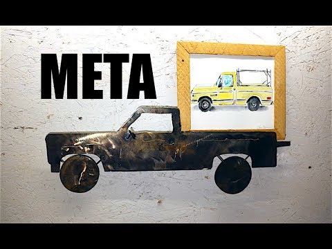 Steel Pickup Truck to Hold a Paper Pickup Pic