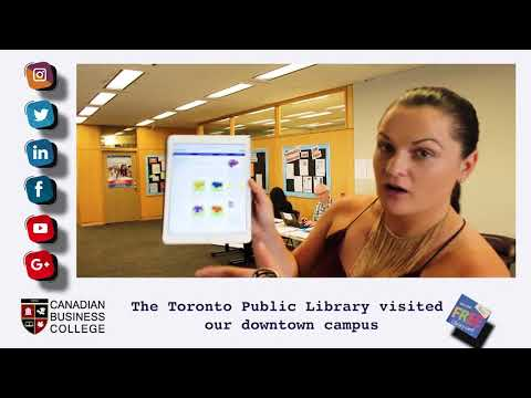Canadian Business College   Toronto Public Library on campus