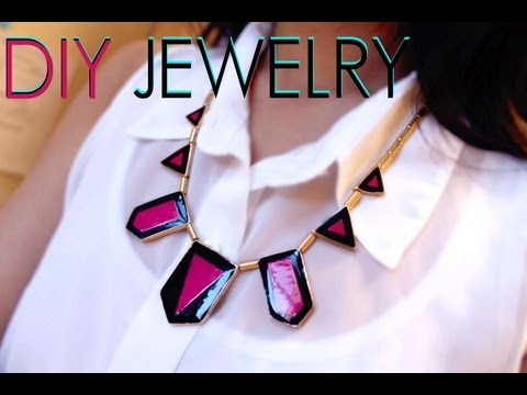 DIY: Painted Geometric Jewelry (Re-Use Old Jewelry)
