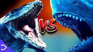 Megalodon VS Mosasaurus (3D ANIMATED FIGHT)