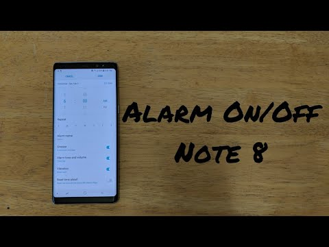 How to turn alarm on/off Samsung Galaxy Note 8